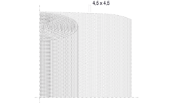 TREILLIS EN FIBRE DE VERRE, MAILLE 4,5 X 4,5 MM