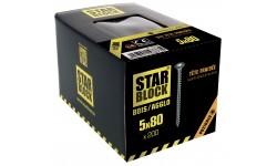 Vis bois et agglomérés - 5x80 - PZ - boite de 200 STARBLOCK
